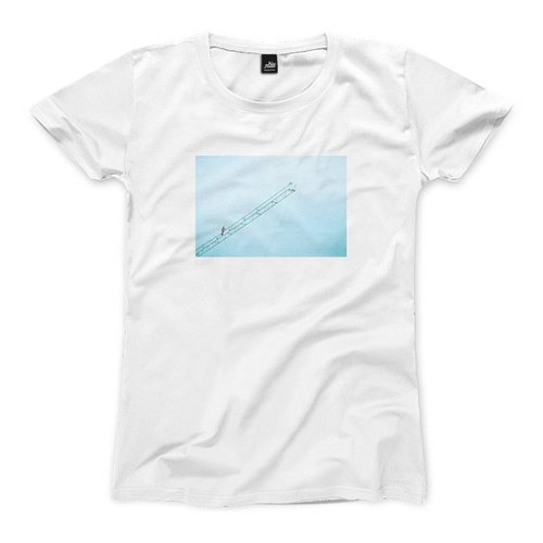 The place to heaven - white - female version of T - shirt