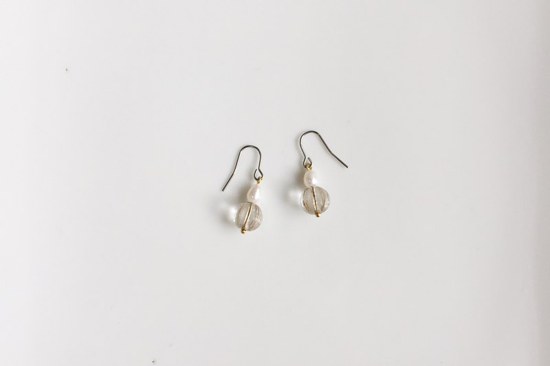 Star Flow Pearl Glass Earrings