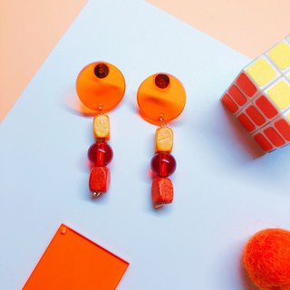 Fun orange earrings