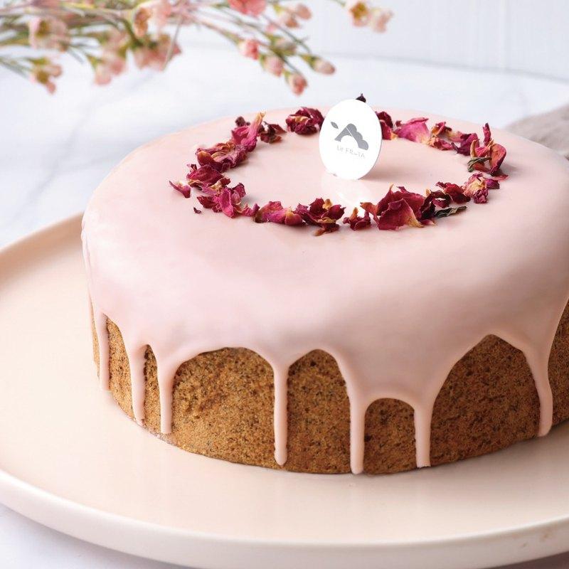 【LeFRUTA朗芙】草莓玫瑰伯爵蛋糕  / 6吋