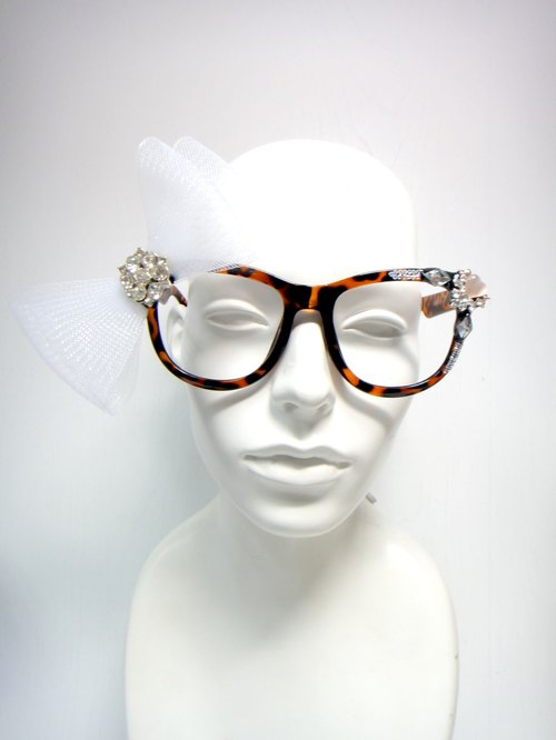TIMBEE LO White Bow glasses custom-made optional colors other boxes