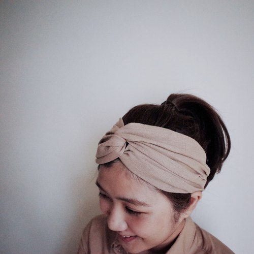 Carol elastic Wide / handmade hair band