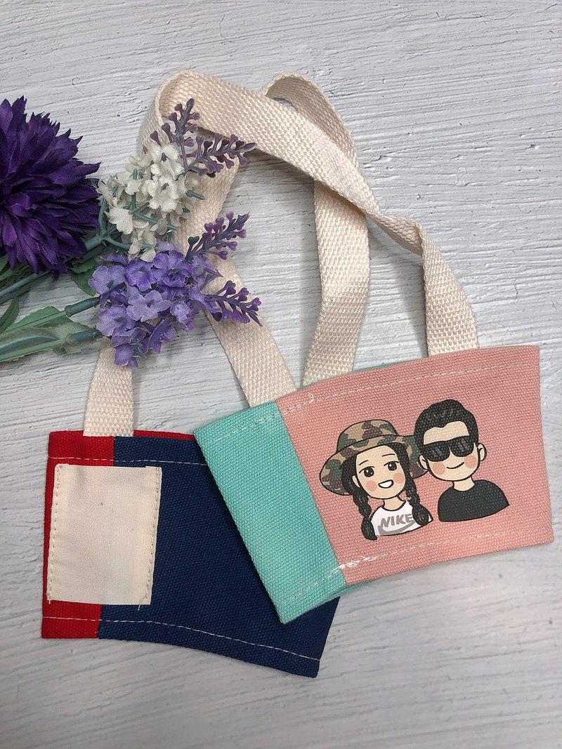 手繪飲料提袋 新色上市 手繪讓禮物都是亮點 手繪客製化 水壺袋