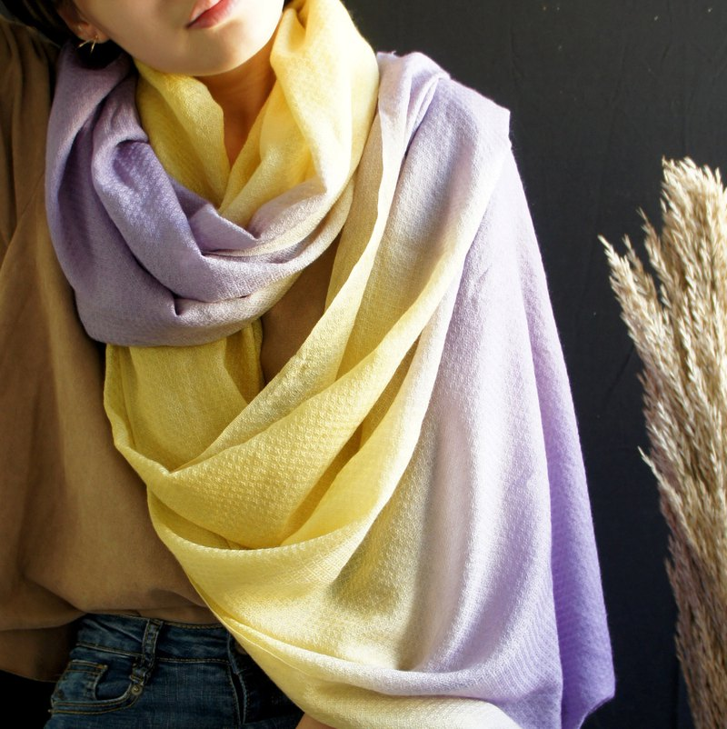 Plant dyed pure wool scarves / shawls - small flaws