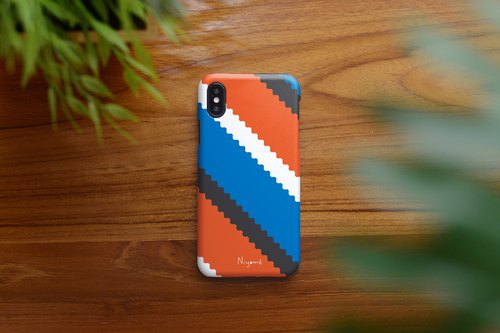 blue orange zigzag iphone case สำหรับ iphone7 iphone 8 iphone 8 plus iphone x