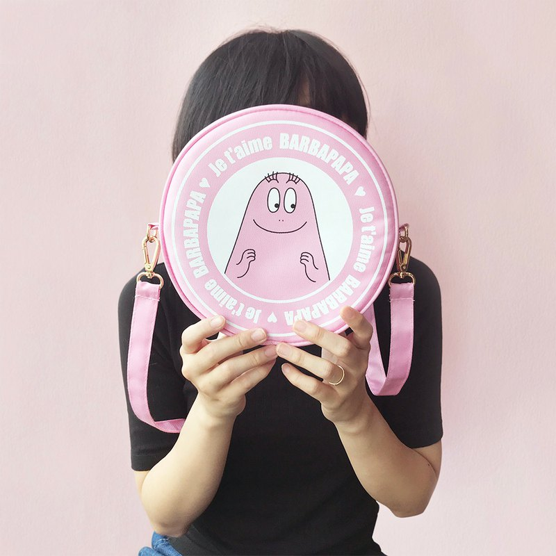 BARBAPAPA Mr. Bubble - Cute round shape shoulder bag with carry bag · Genuine products