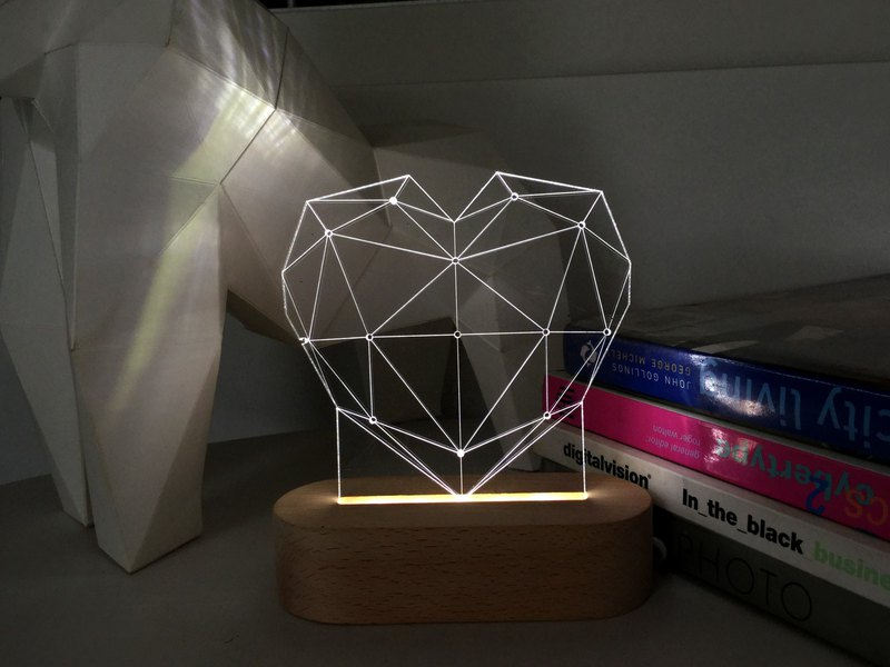 Limited Offer LED Acrylic Night Light - Diamond Love