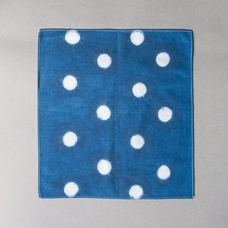 Blue stained small square - Japanese style circle wind