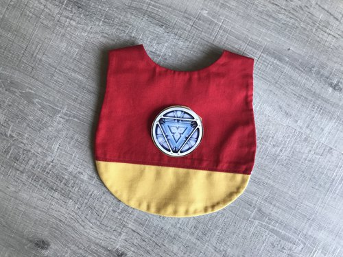 Mi Yue style bibs children's pockets iron hand-made food pocket can be made for picking paragraph embroidery