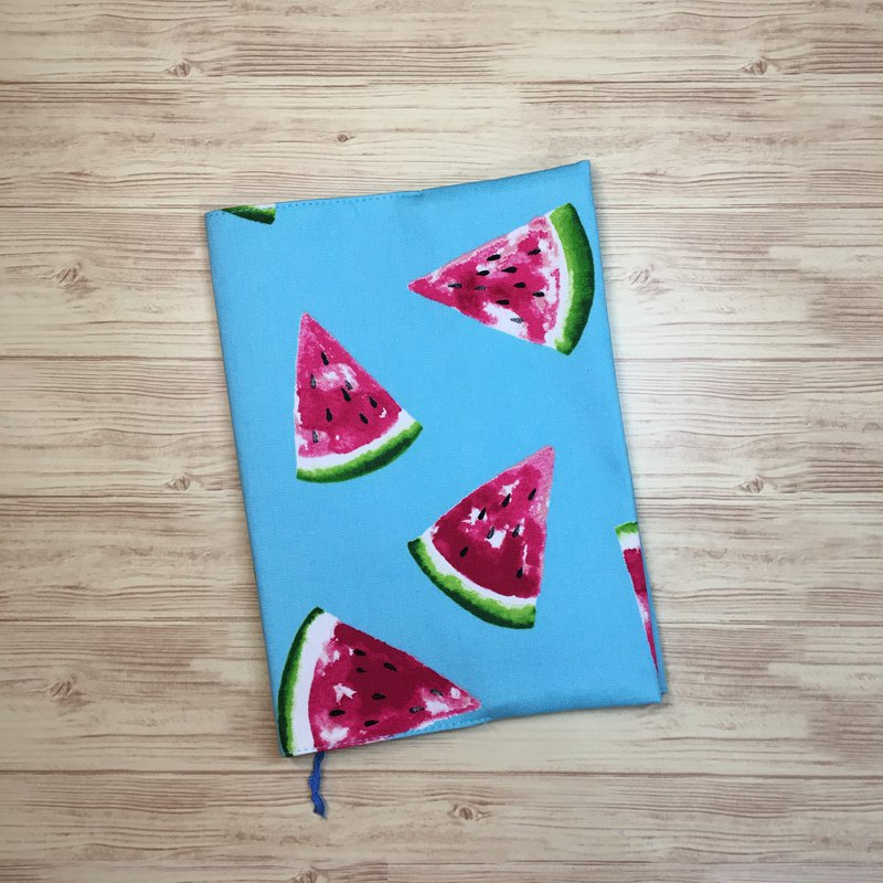 Summer heat watermelon / A5 hand book cloth book / cloth book cover