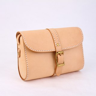 [Tangentialism] leather handmade retro buckle-style handbag shoulder mini small bag female student bag Messenger Bag