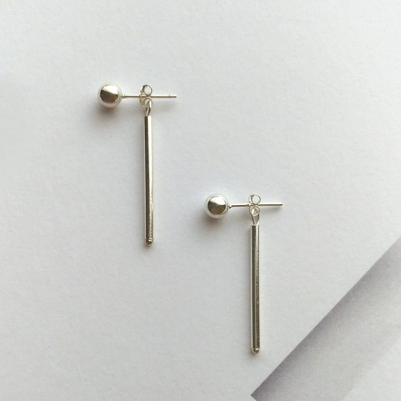 Se040 wear-sterling silver pin clip earrings
