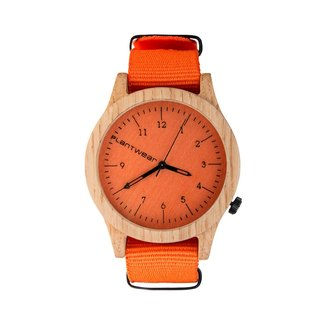 Plantwear – HERITAGE SERIES – ORANGE EDITION - OAK WOOD TIMBER WRIST WATCH