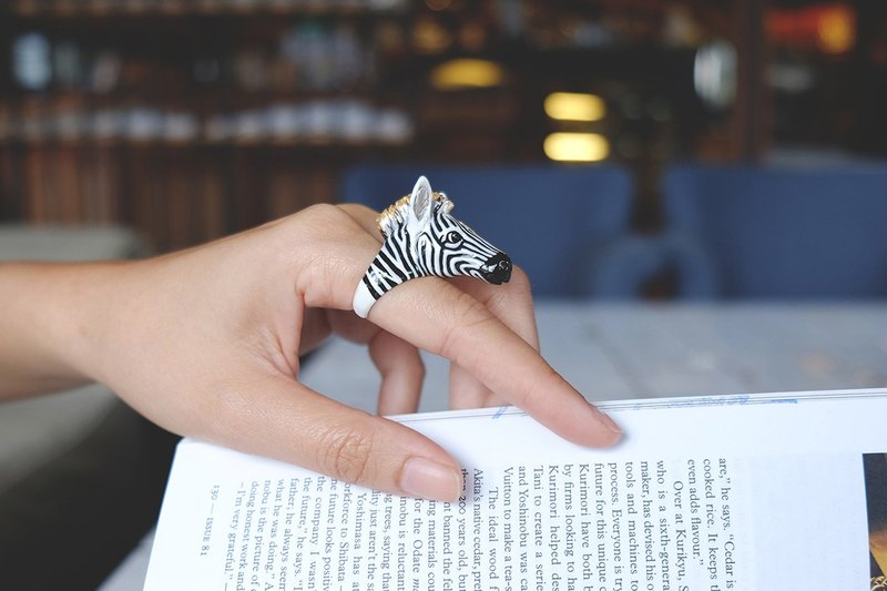 Frank, Zebra Ring. Safarica Collection. Handmade. Animal Loves.