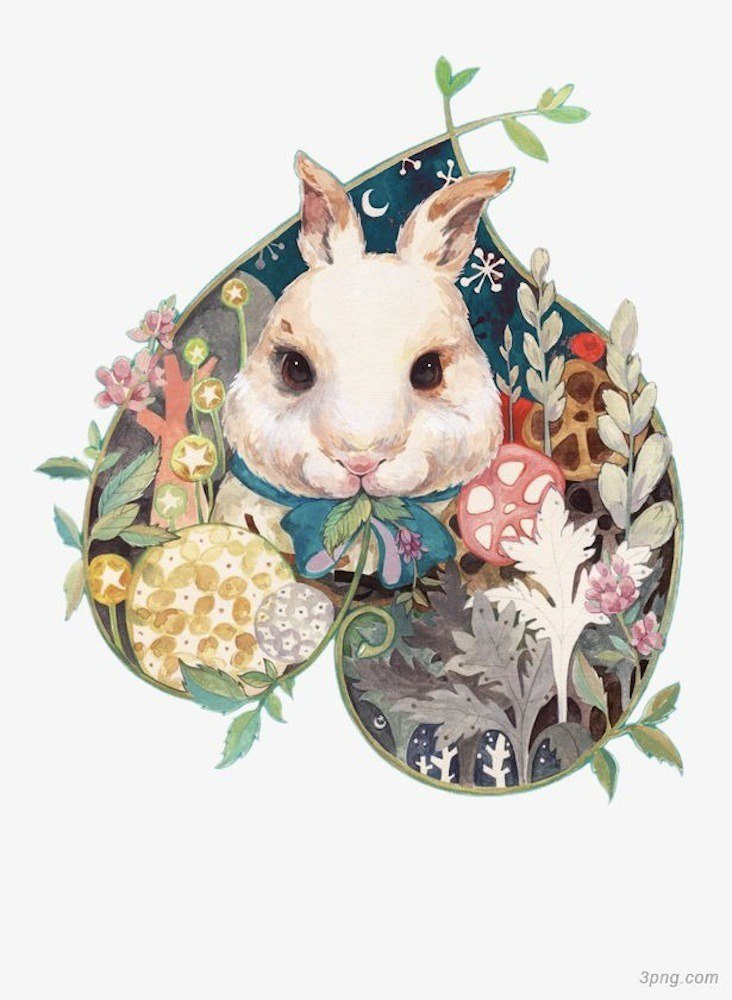 Chen Ying points: White rabbit seven plates