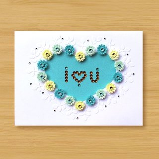 Handmade Roll Paper Card _ Love Pattern I Love You_B ... Mother Card, Valentine Card