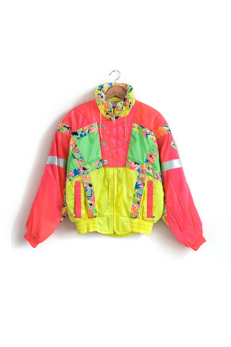 Vintage color pen ski coat vintage jacket