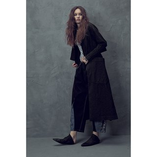 1802D0815 suit collar texture long coat