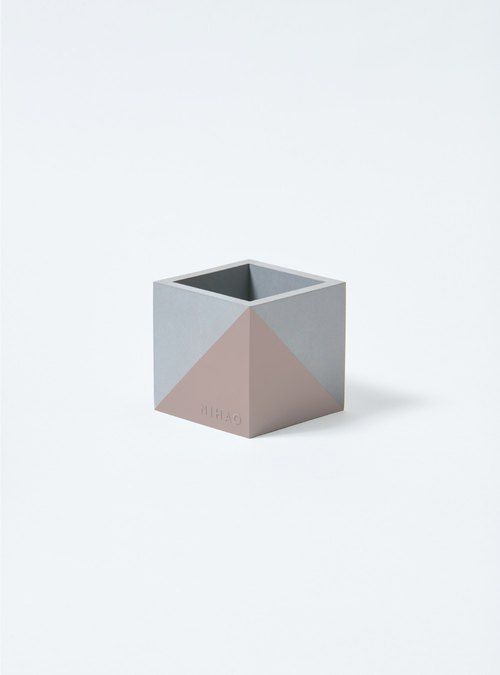 NIHAO | Cement pots square type (possession of maroon)