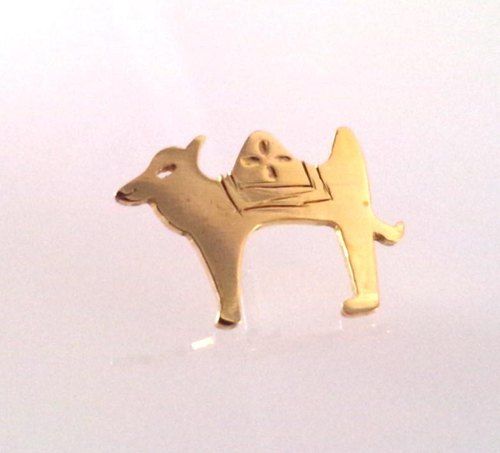 Silk road brass CAMEL camel pin brooch