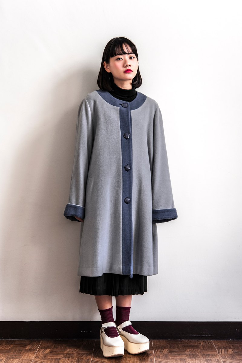Vintage purple gray collar vintage coat