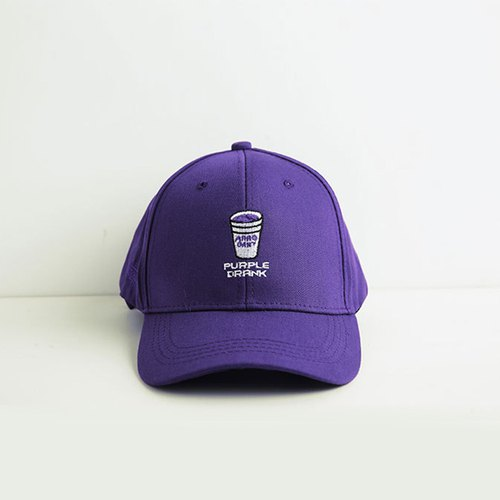 Korean version of the beverage embroidered baseball cap