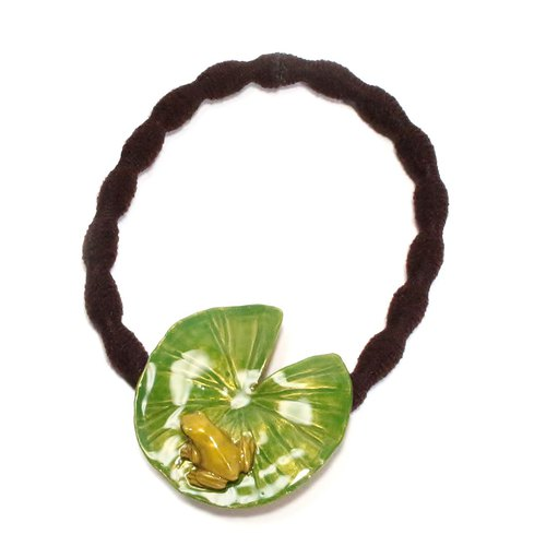 Lotus leaf & Frog hair elasti / Water lily and frog hair rubber HG009