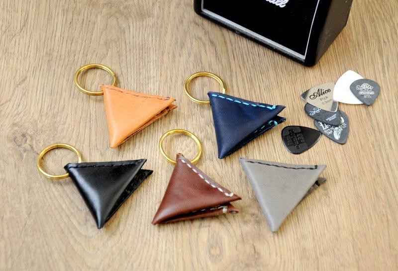 結他Pick系列~皮三角 給毎天與結他為伴的您 Pick皮革套 免費刻字