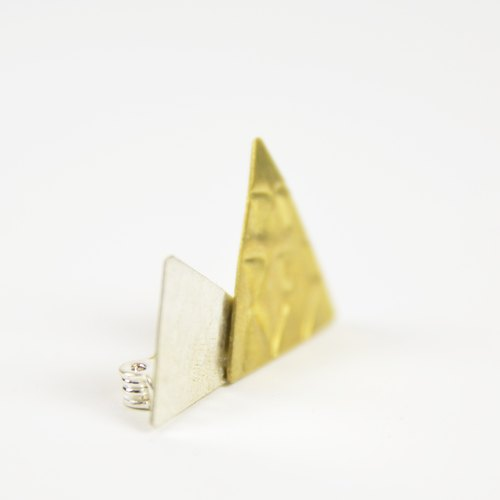 White + brass pin _ fair trade