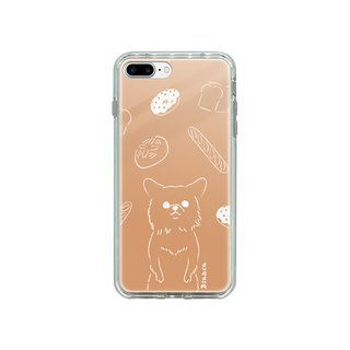 iPhone mirror case Chihuahua and bread illustration