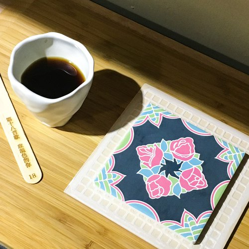 Taiwan Majolica Absorbent Tiles Coaster【The Rosy-colored you】