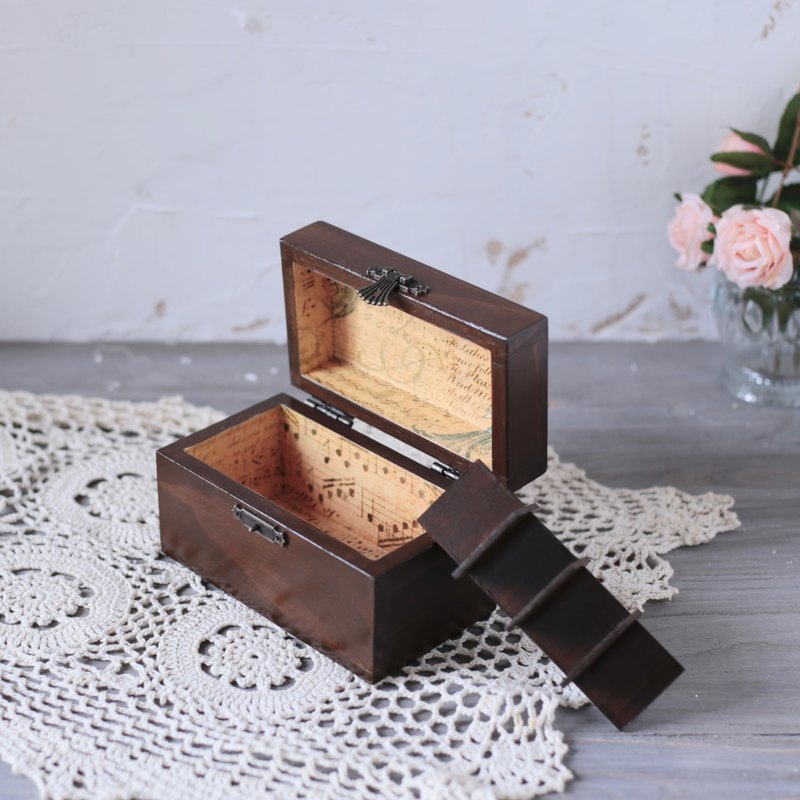 Amour love wood - notes solid wood oil wooden box dip pen ink box 8 grid / 15ML