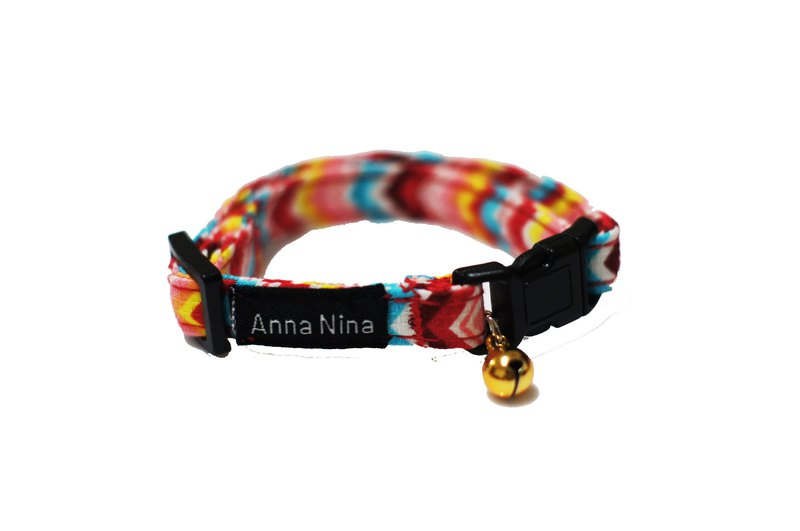 [AnnaNina] Pet cat collar rainbow electrocardiogram collar XS~M