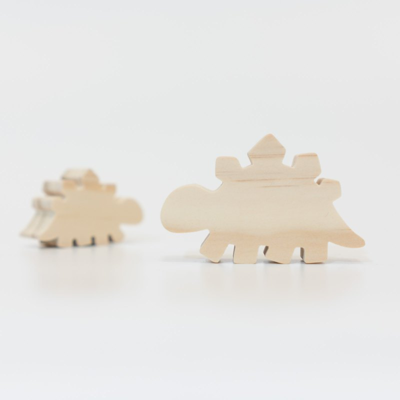 wagaZOO thick cut modeling building blocks dinosaur series - Stegosaurus