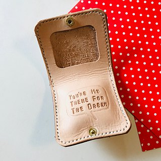 The original color whisper admonition customization coin pocket leather wallet clip hairy hand