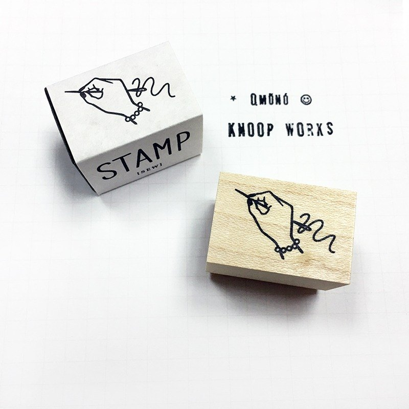 KNOOP WORKS Wooden Stamp (SEW - B)