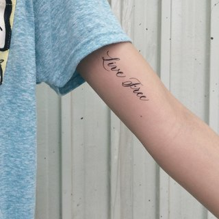 "cottontatt ""Live Free"" calligraphy temporary tattoo sticker"