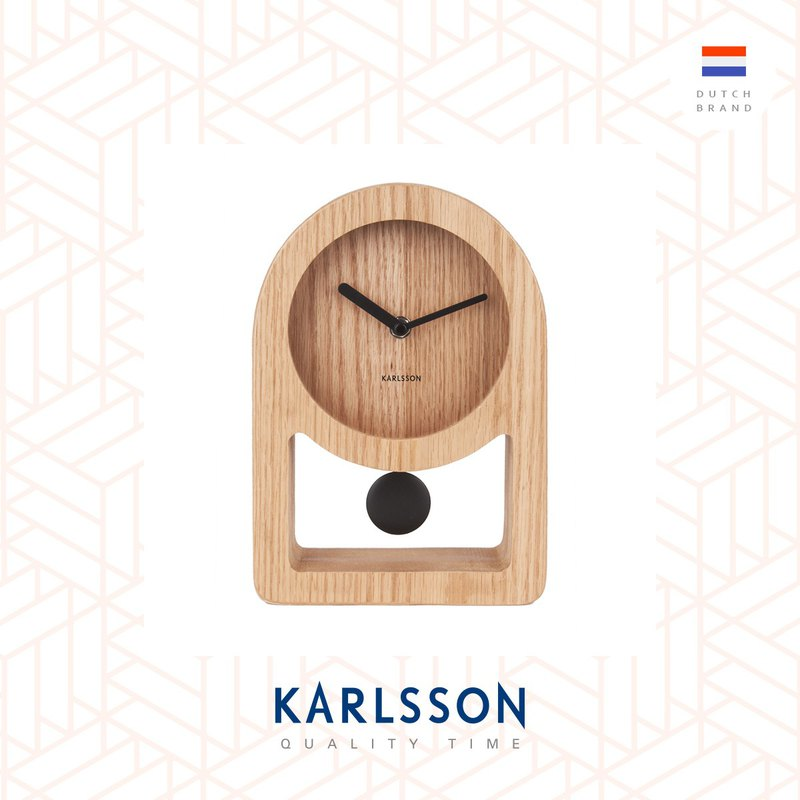 Karlsson, Table clock Lena wood veneer (Pendulum)