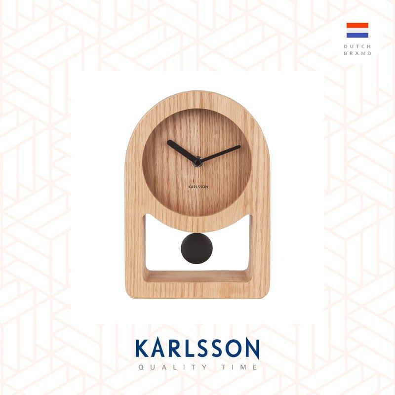 荷蘭Karlsson, Table clock Lena wood (Pendulum) 搖擺枱鐘