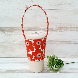 [Beverage bag] - red big flower