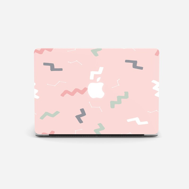 PINK TETRIS Macbook Air 11, Macbook Pro 13 Touch Bar case, Macbook hard case