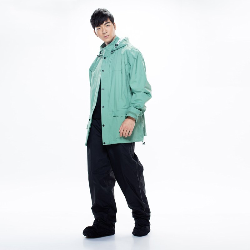 Metropolis waterproof jacket [Blue Green] + Expansion retractable storage bag rain pants [Black] (discount group)