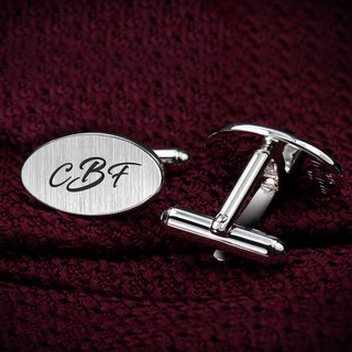 Initials Cufflinks - Personalized Cufflinks engraved with initials - 925 silver