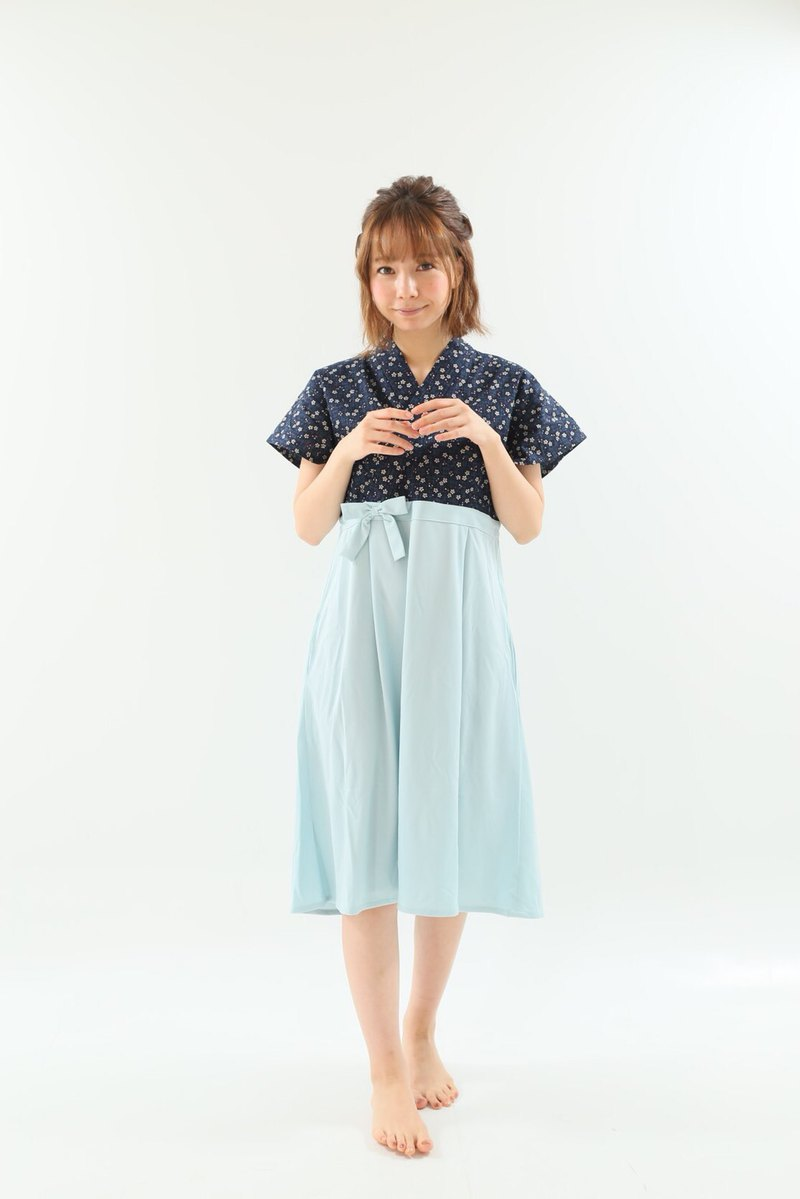 袴 風 Room Wear / One Piece Dress / Japanese Style / Pajamas 【紺】