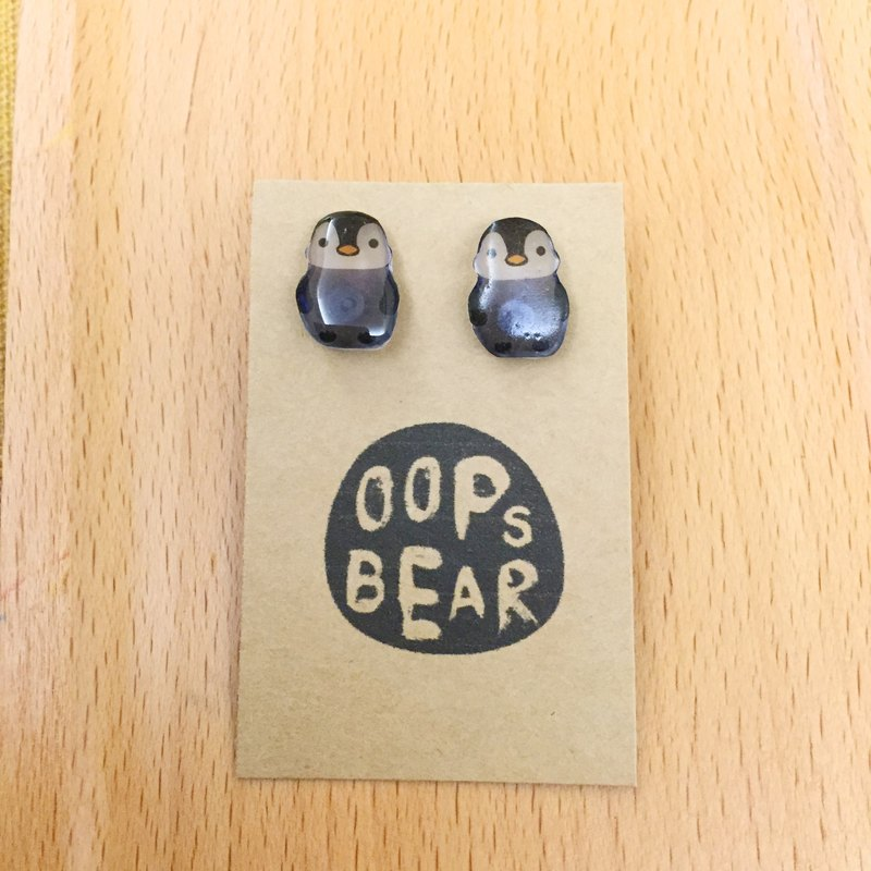 Oops bear  - little penguin earring