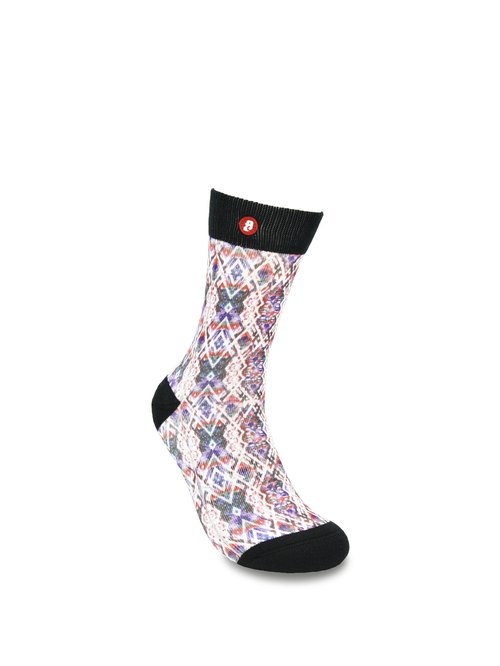 Hong Kong Design | Fool's Day stamp socks -Fade Diamond Blue 00025