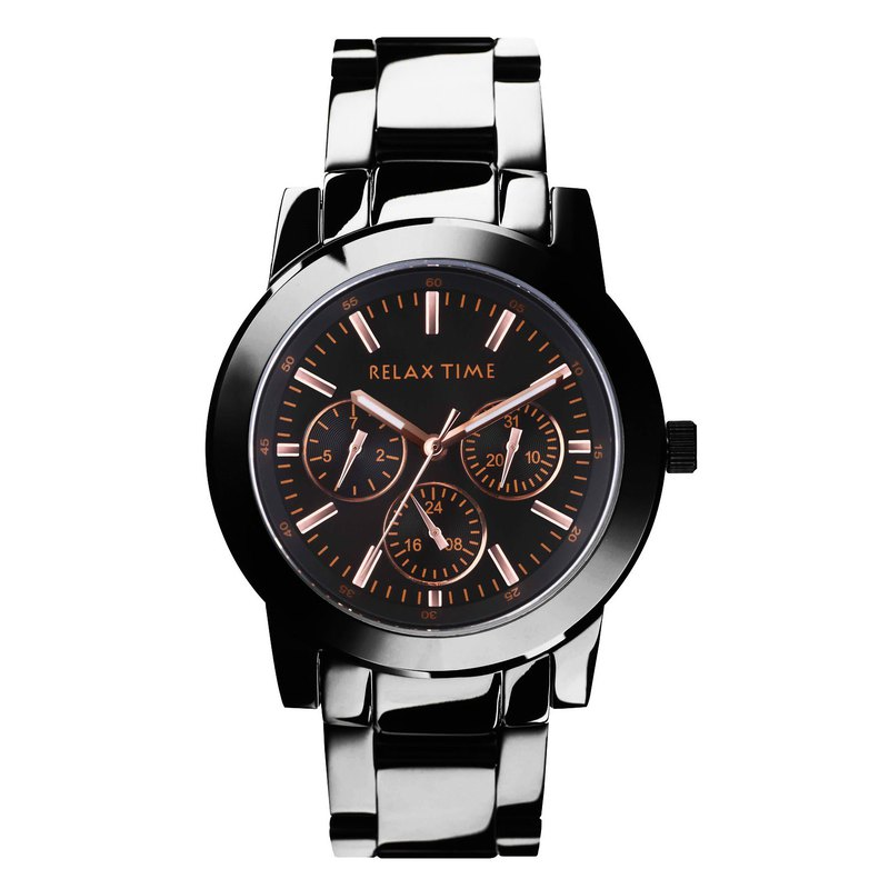 [Increase] RELAX TIME three-eye watch - rose (R0800-16-10X)