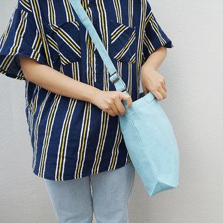 2 way canvas tote bag-Blue No.4