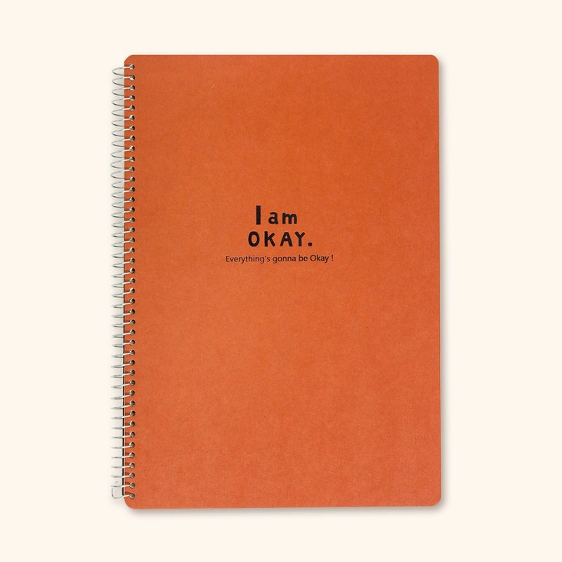 Boge stationery xIamOkay 【18K horizontal loose-leaf notebook】 four colors