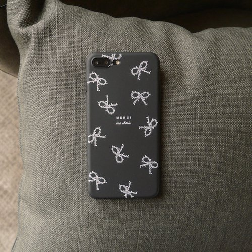 Paris black bow phone shell